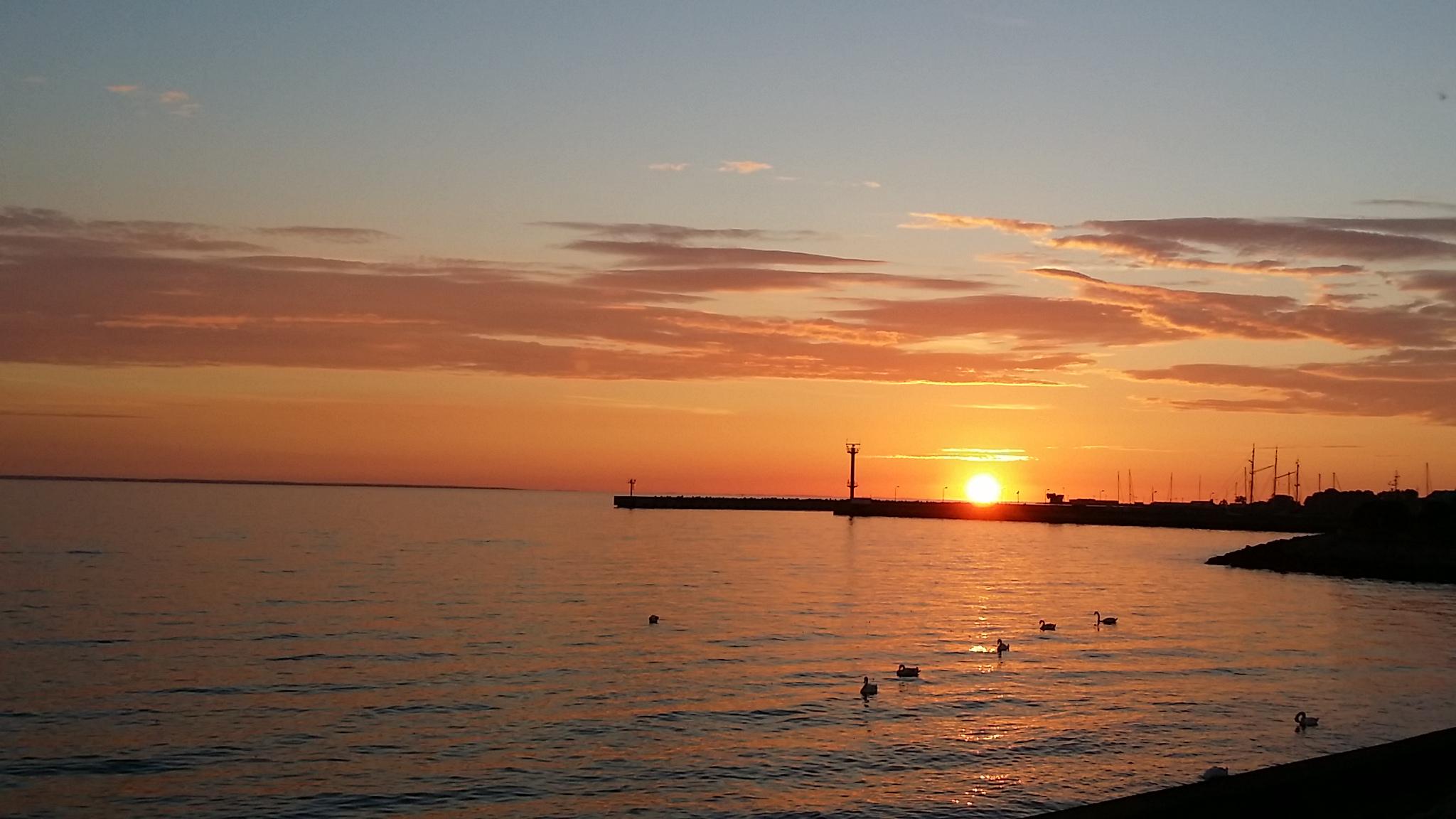 Sonnenuntergang hinter dem CP