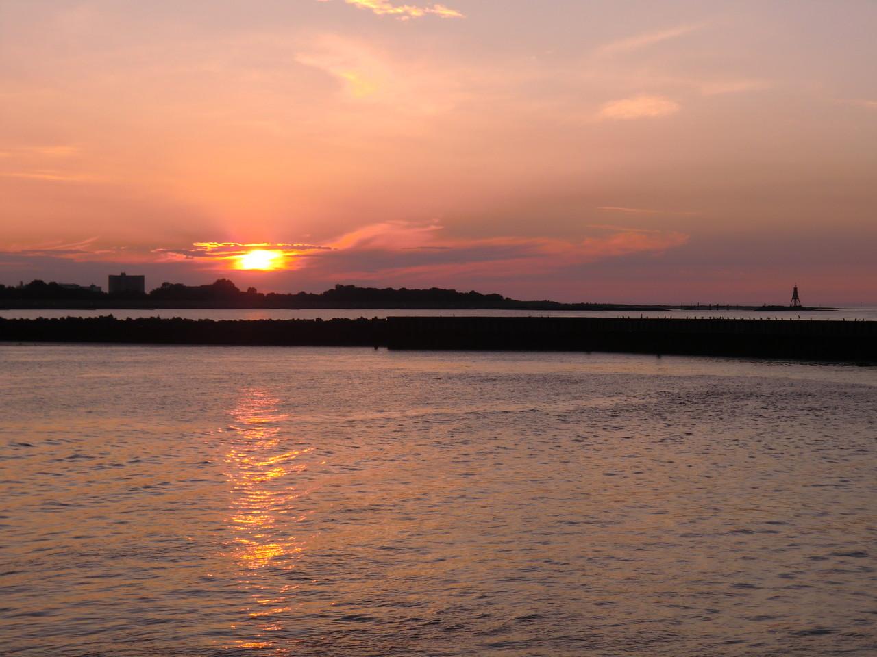 Sonnenuntergang in Cux