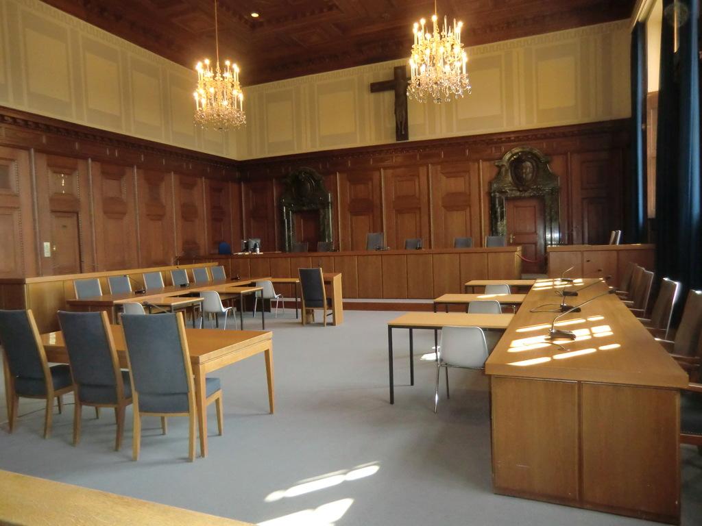 Gerichtssaal der Nürnberger Prozesse