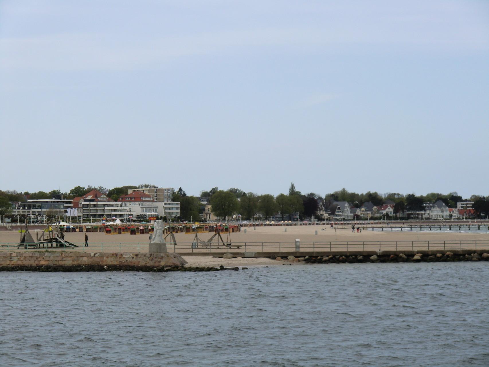Strandabschnitt von Travemünde