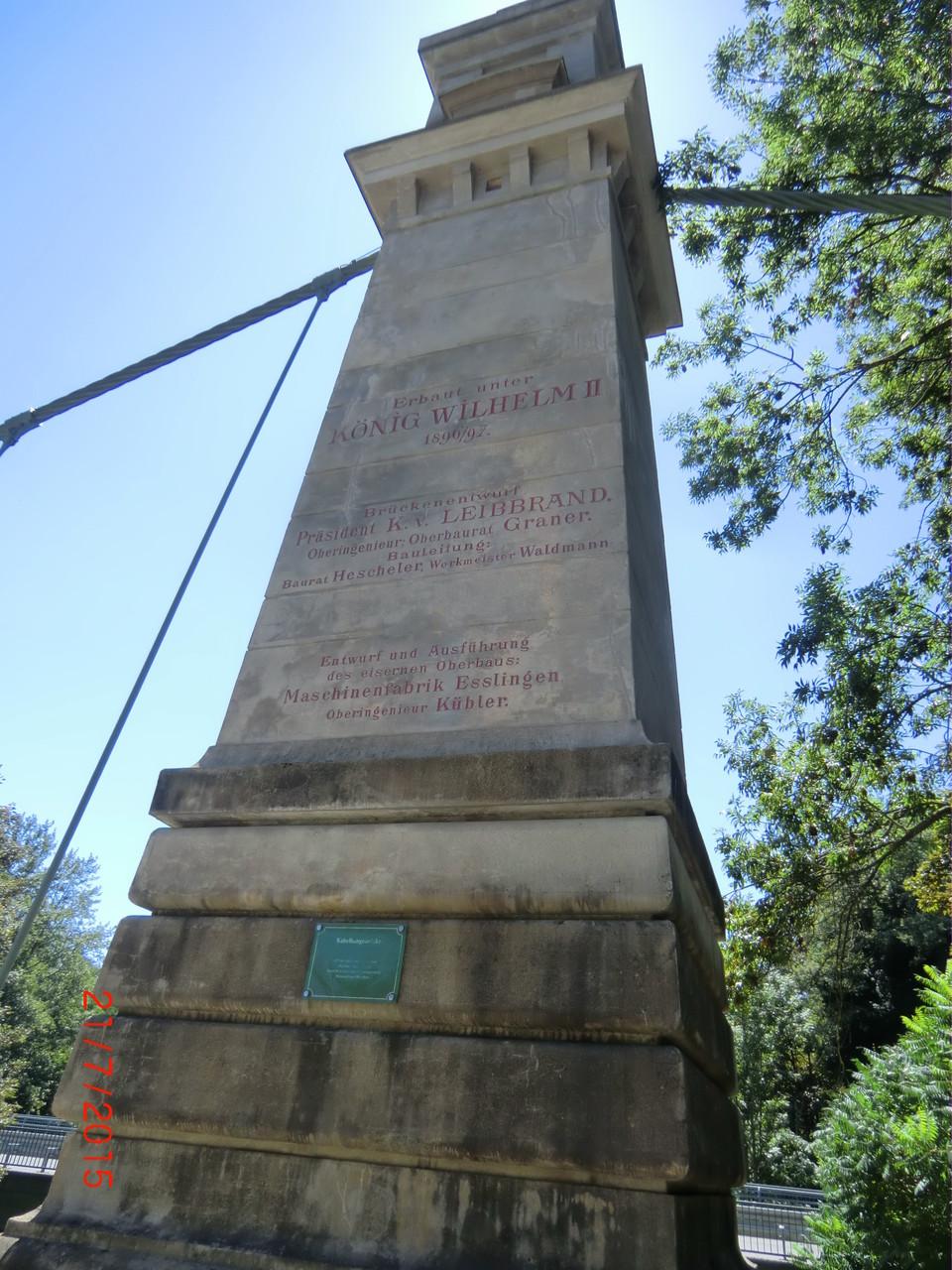 Inschrift am Brückenpfeiler