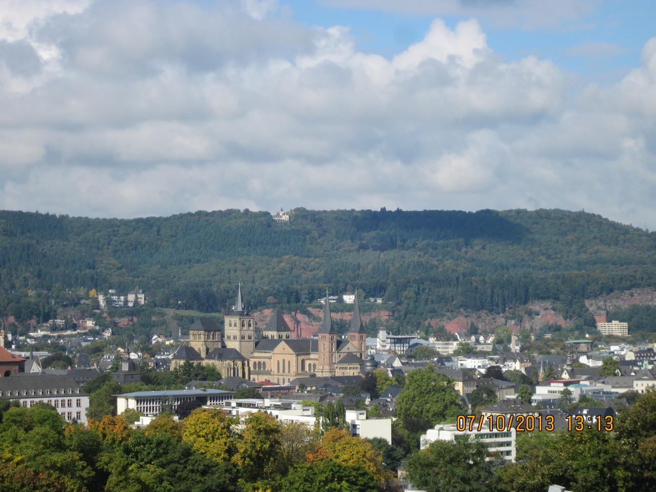 Trier vom Weinberg aus fotografiert