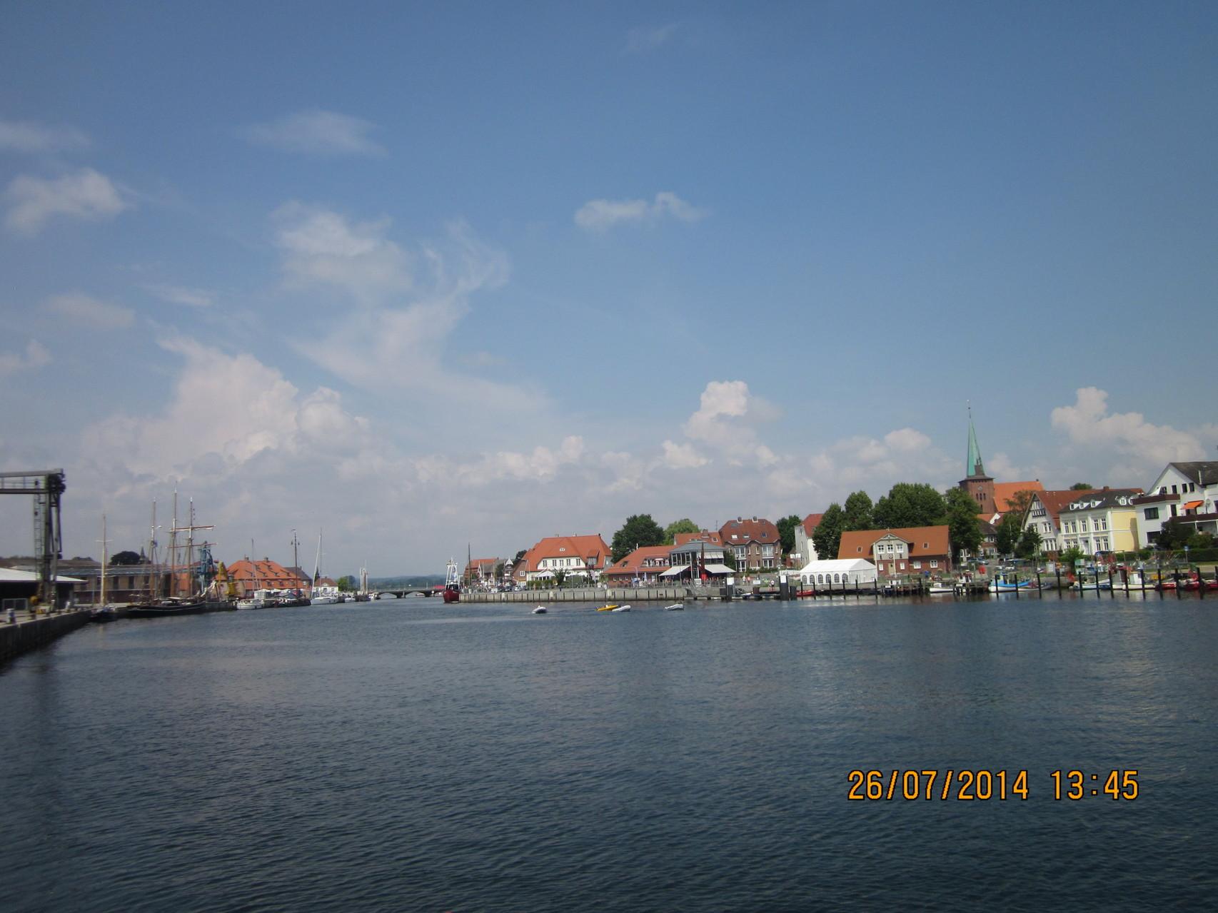 Blick auf den Hafen von Neustadt