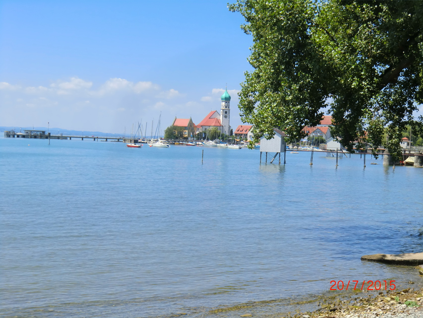 Das kleine Örtchen Wasserburg am Bodensee