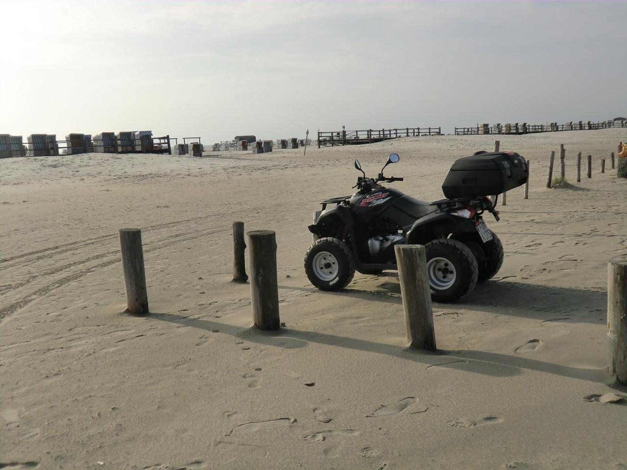 Am Strand der ideale fahrbare Untersatz