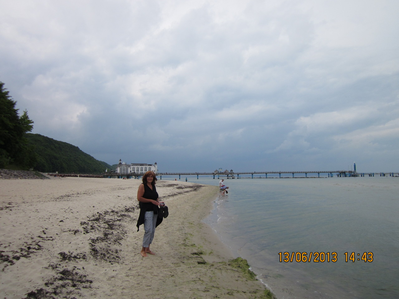 Am Strand entlang zur Seebrücke
