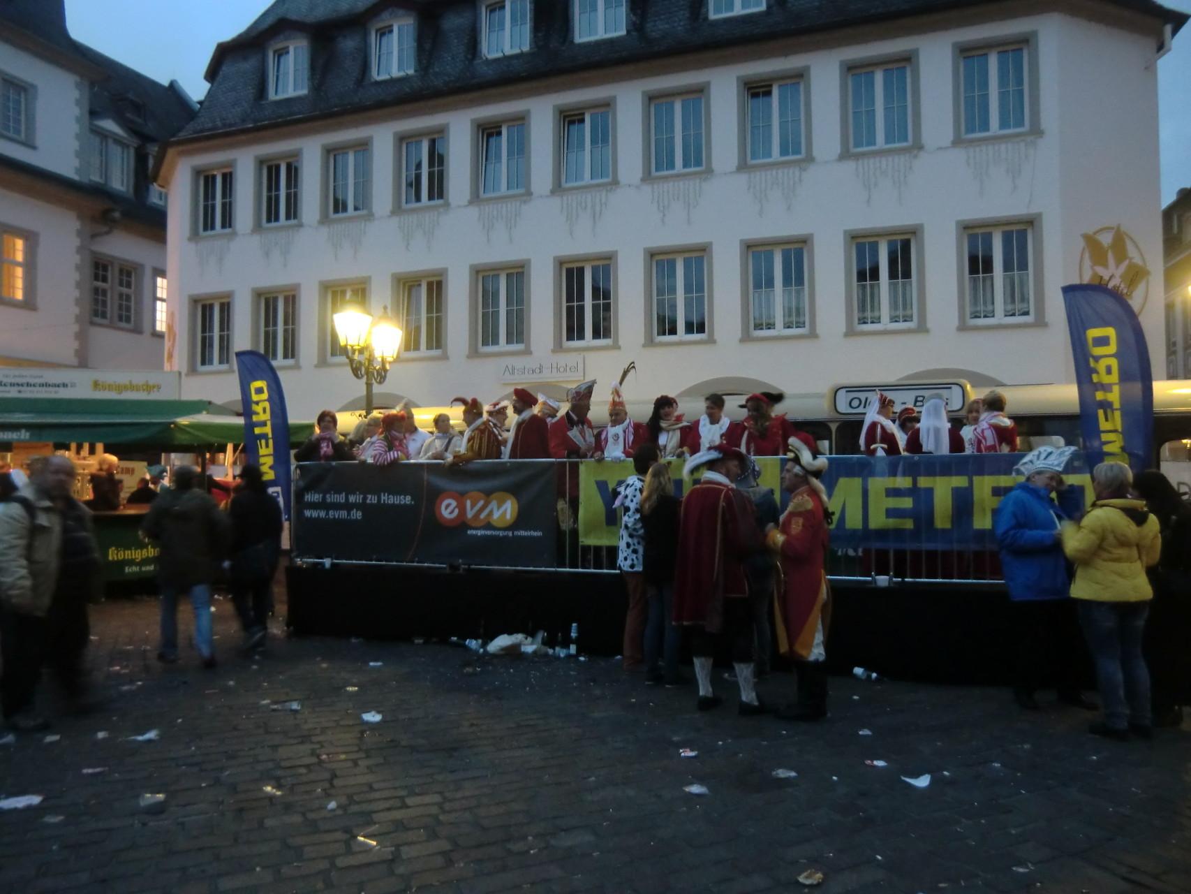 11.11. in Koblenz, die Jecken sind los