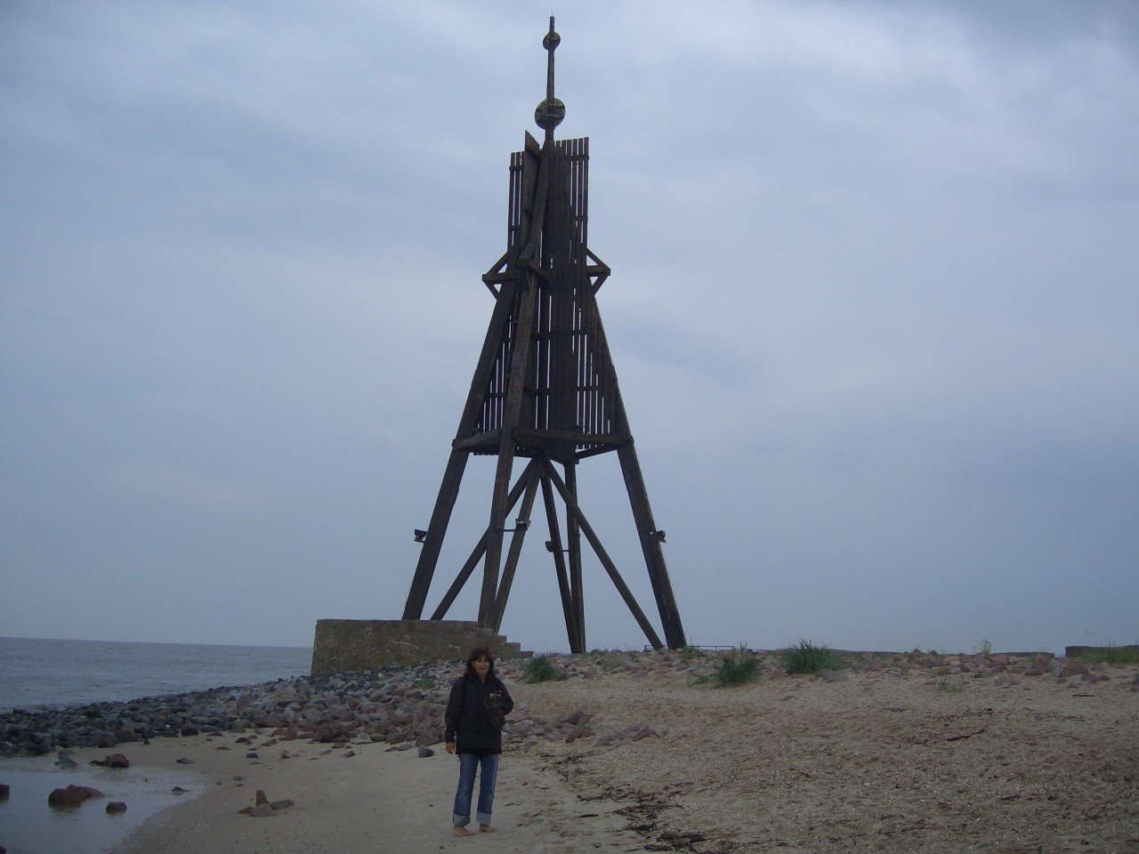 Das Wahrzeichen Cuxhavens - die Kugelbake