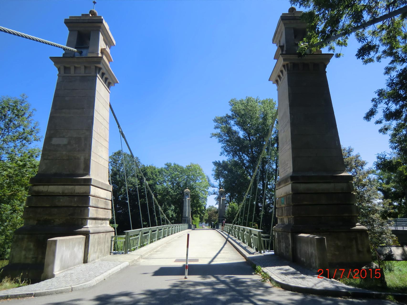 Drittälteste Hängebrücke Deutschlands