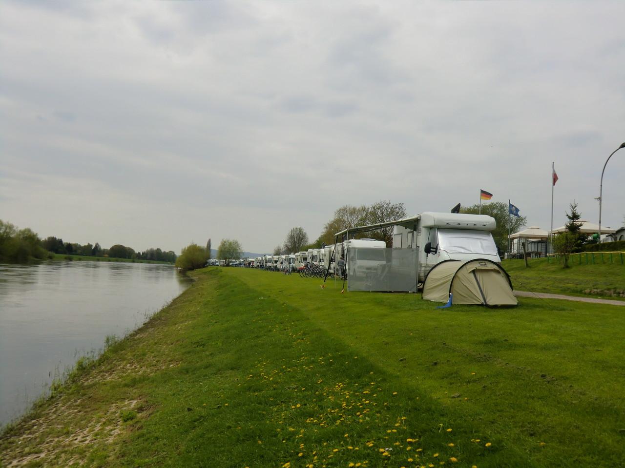 eines ehemaligen Campingplatzes