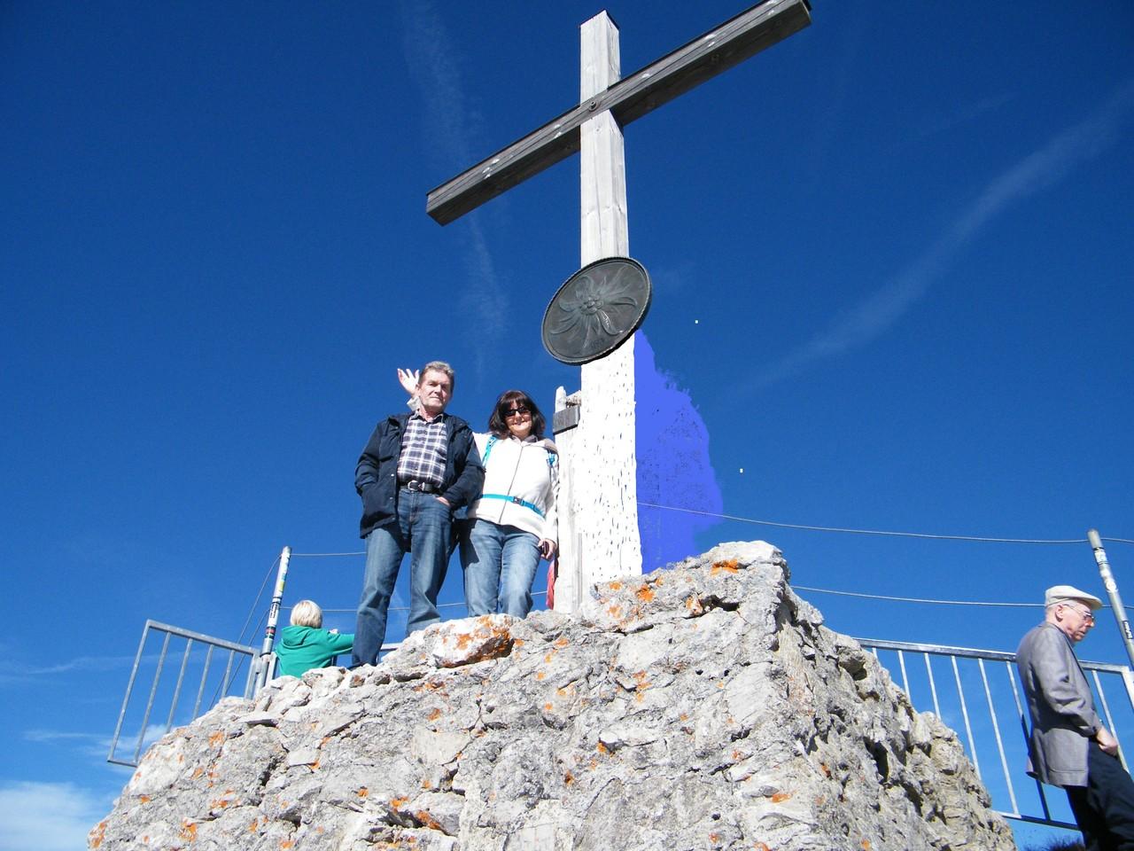 das Gipfelkreuz erklommen