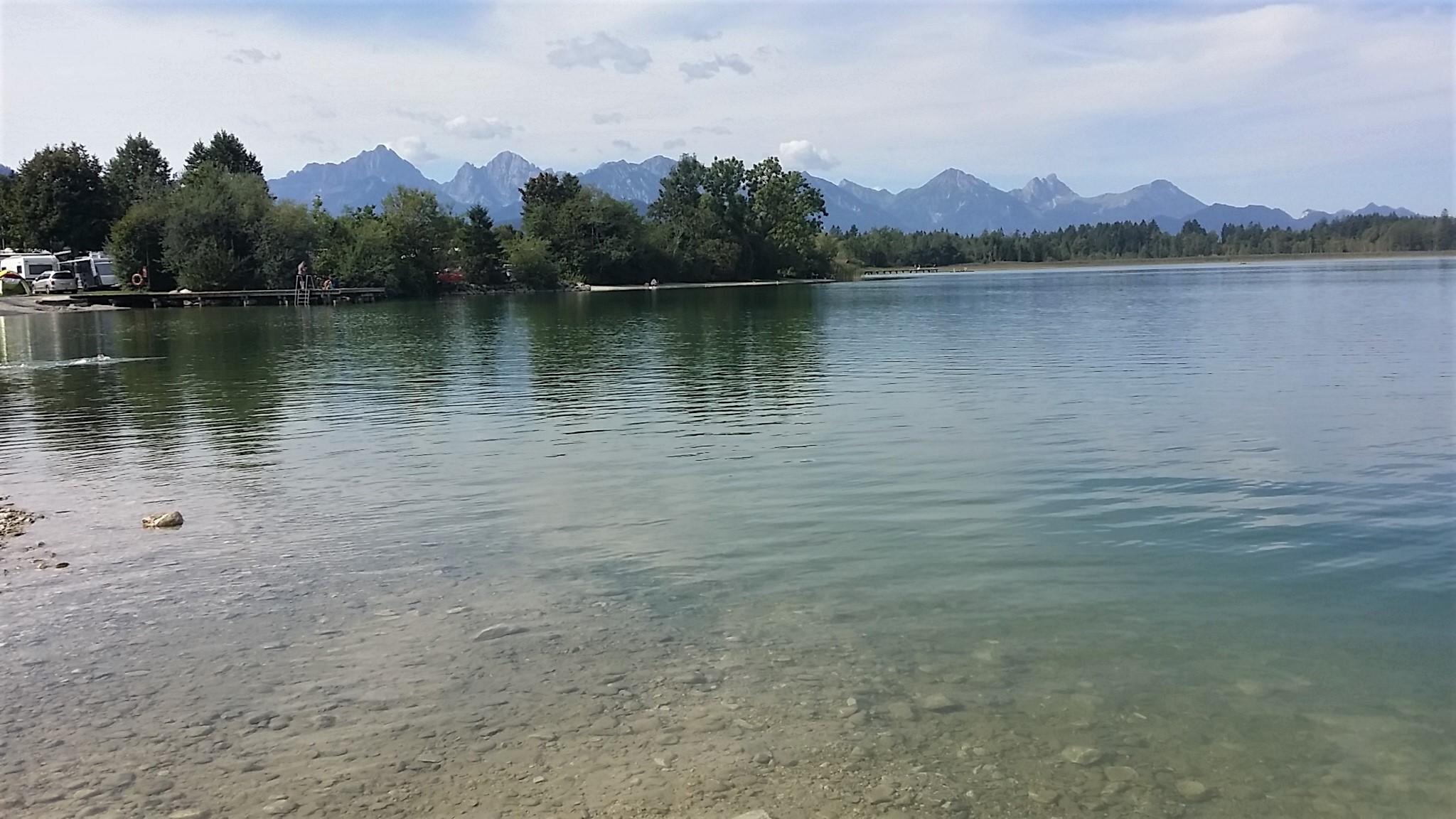 Auch hier im See fehlt etliches an Wasser