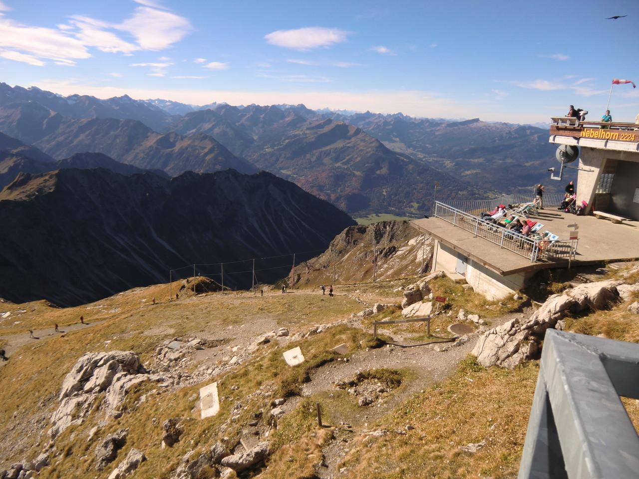 auf der Terrasse der Nebelhorngaststätte