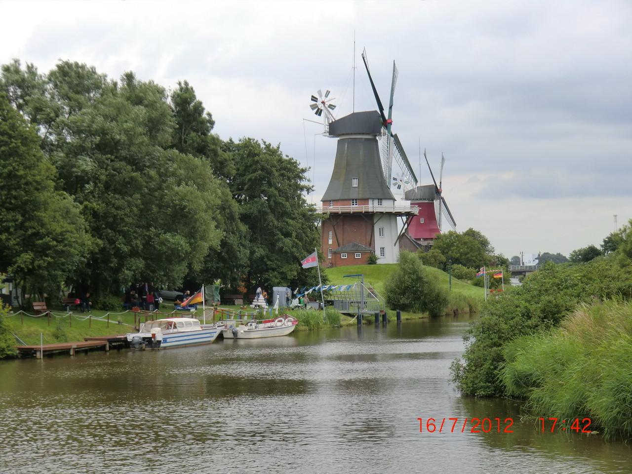 Die Mühlen aus einer anderen Perspektive