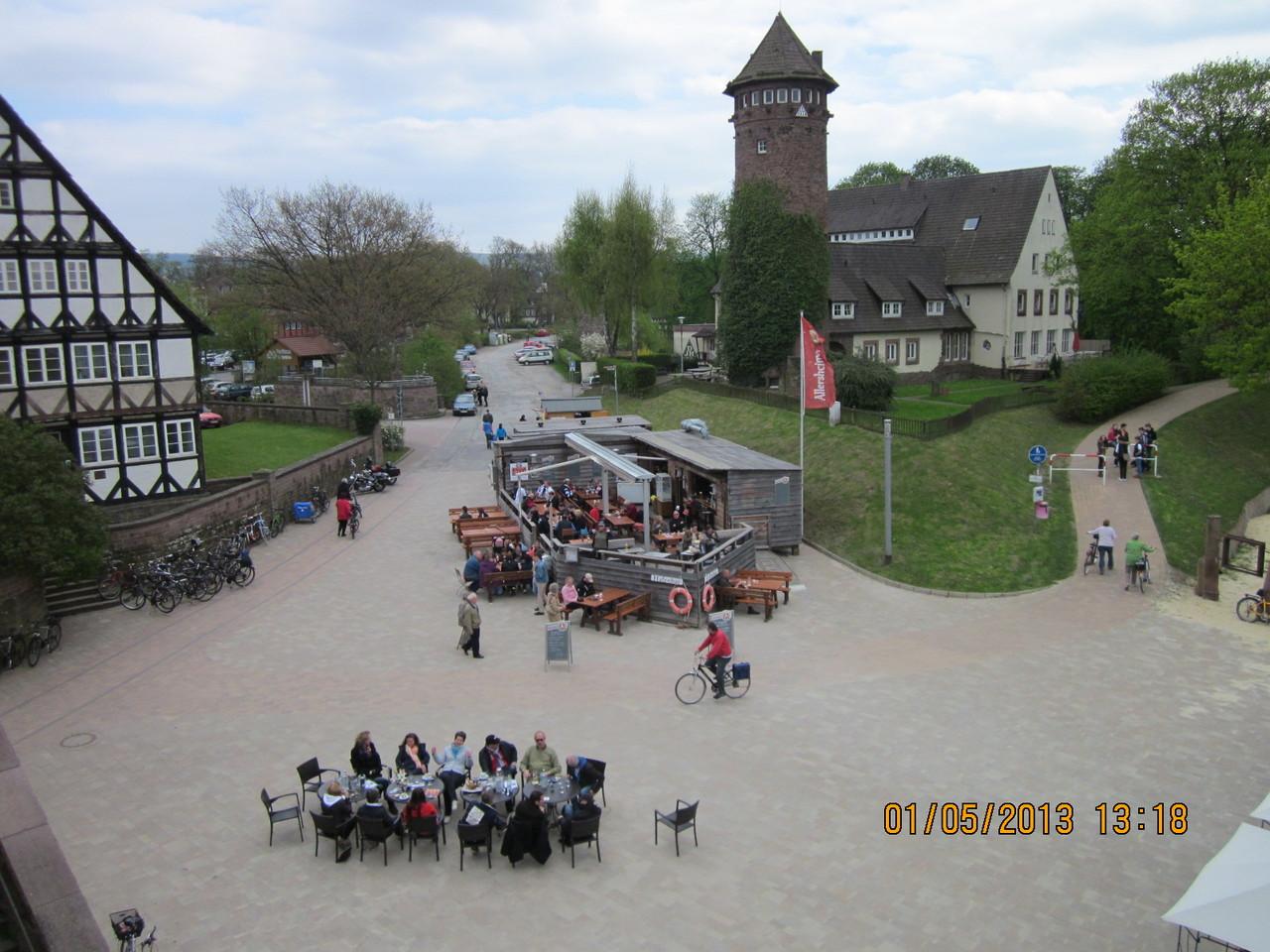 an der Weser eine Strandbar
