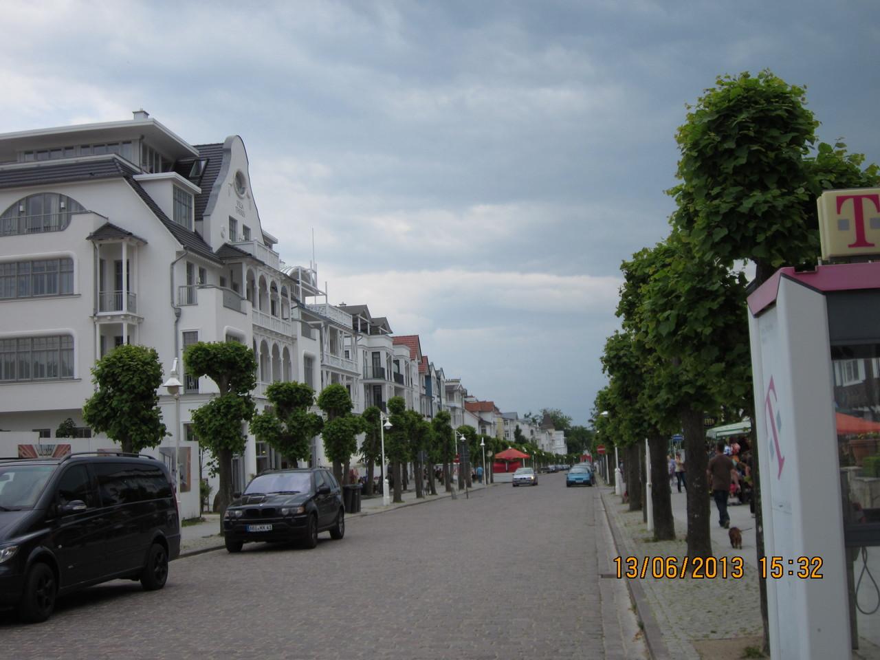 die Wilhelmstraße, alte Bäderarchitektur