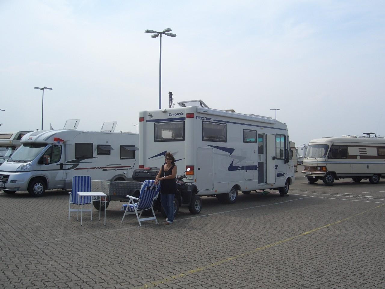 Ankunft am Fährhafen in Cuxhaven