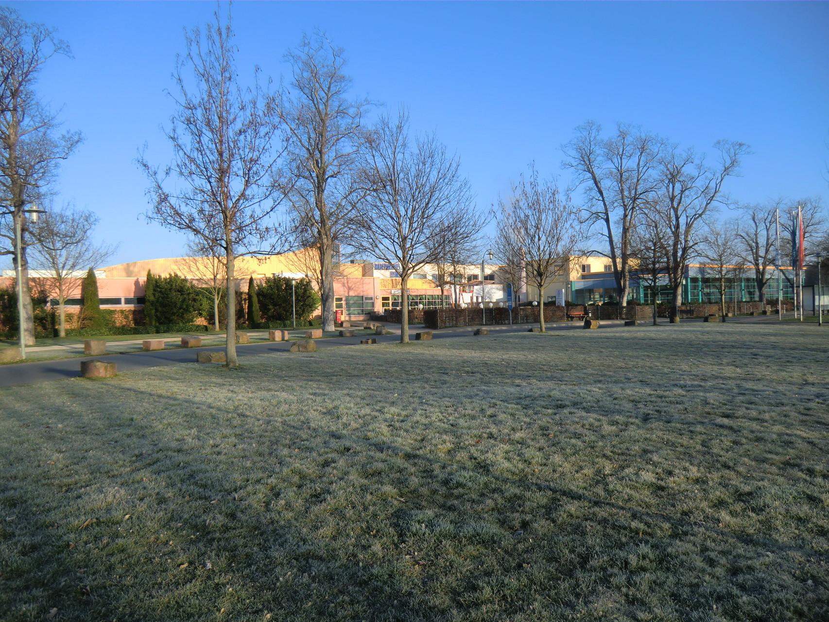 Der Stellplatz Eiswiese machte morgens seinem Namen alle Ehre