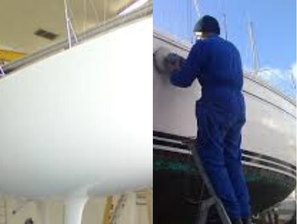 reparation gel coat bateau toulon, lustrage coque bateau hyeres