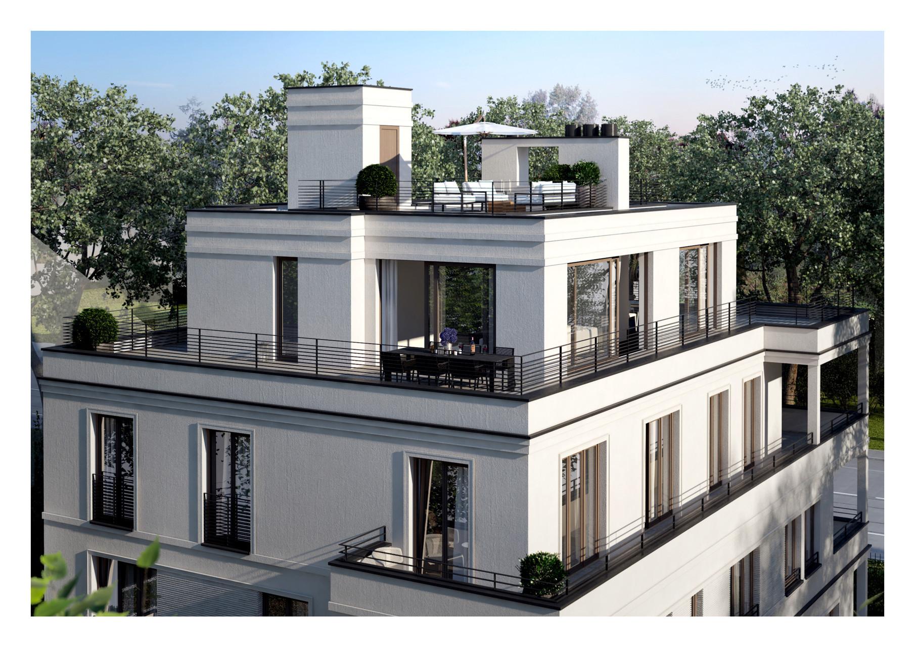 Visualisierung Ansicht Penthouse