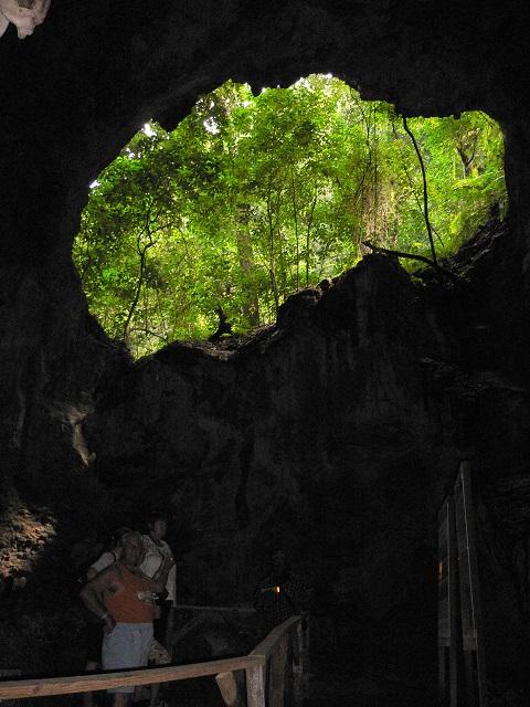 Ausblick aus der Höhle