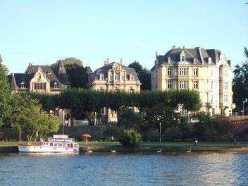 Bord du Main Francfort rive des musées
