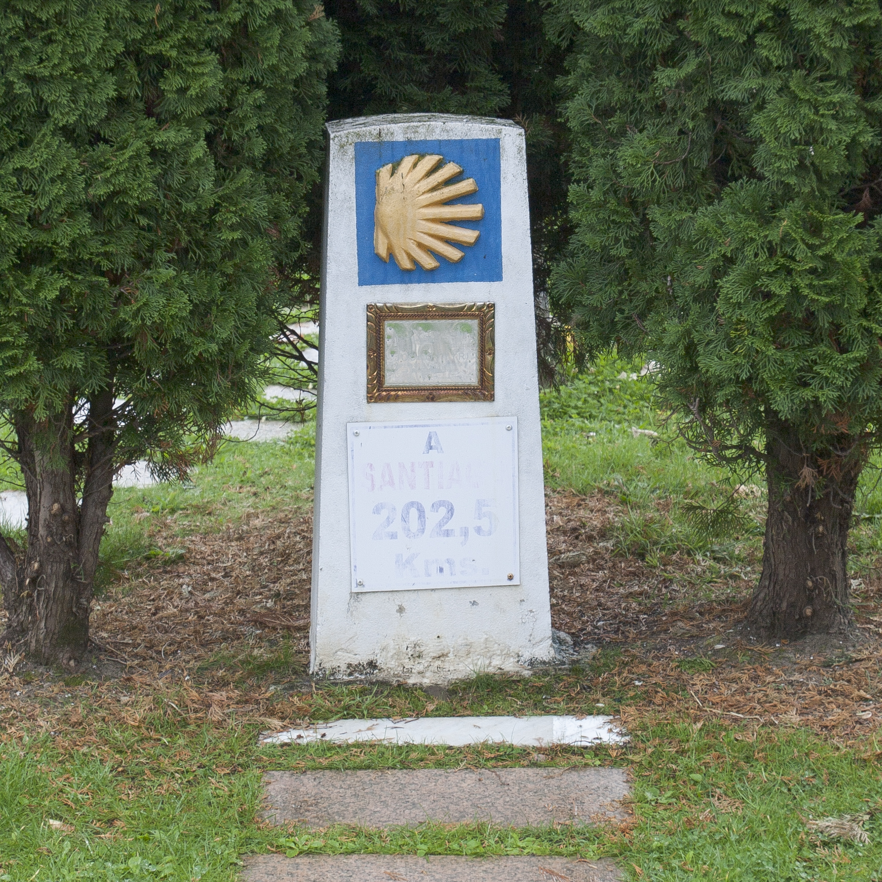First marker in Ponferrada