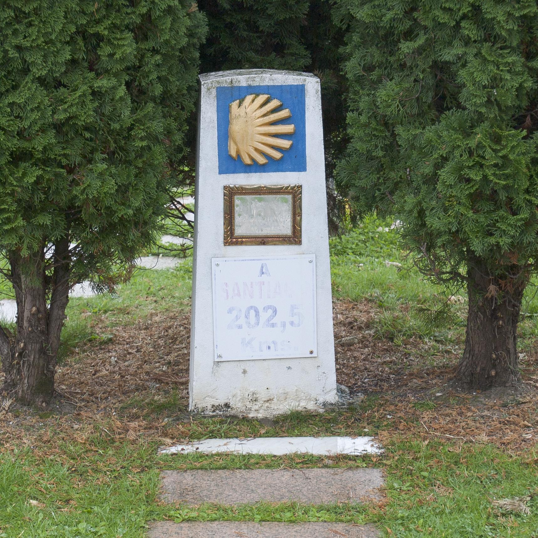 First marker in Ponferrada