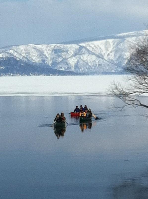 屈斜路湖のカヌー