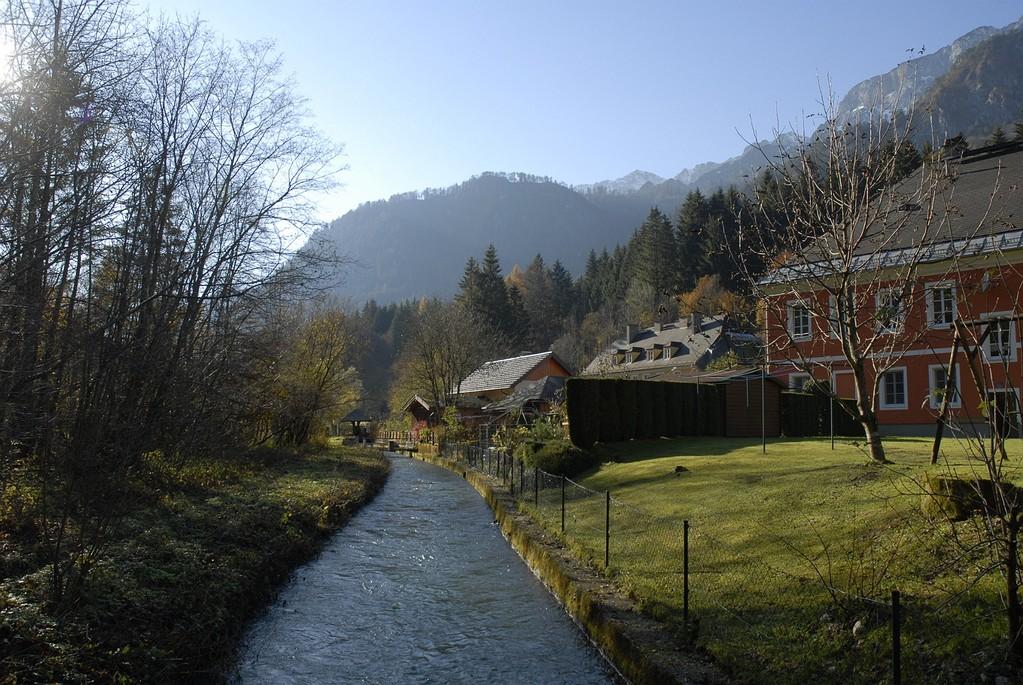Hier beginnt der Almkanal: Am Fuße des Untersbergs.