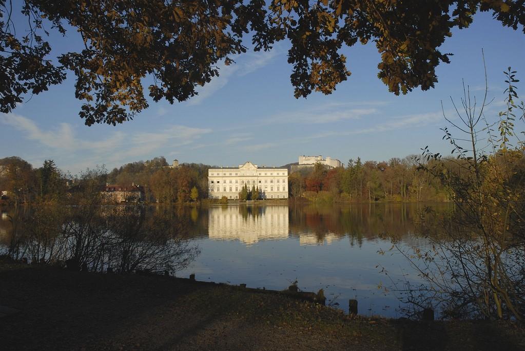 Schloss Leopoldskron: Dieser Teich wurd vom Almkanal gespeist.