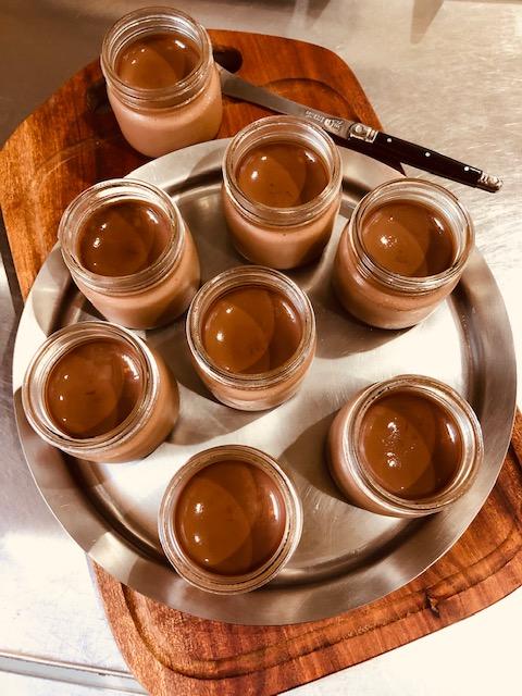 無農薬プアール茶の焼きプリンでクールダウン*