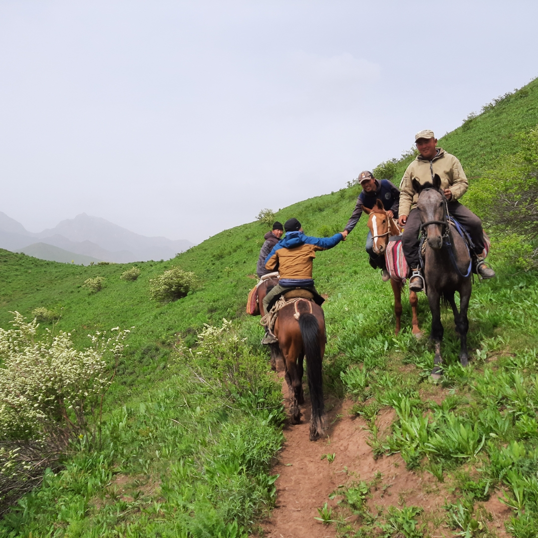 Meeting Nomads while Horse Riding   in Southern Kyrgyz mountains