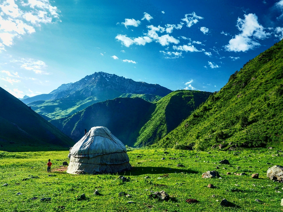 .Boz-Üiy - Kyrgyz Nomad House in the Jailoo - summer pasture