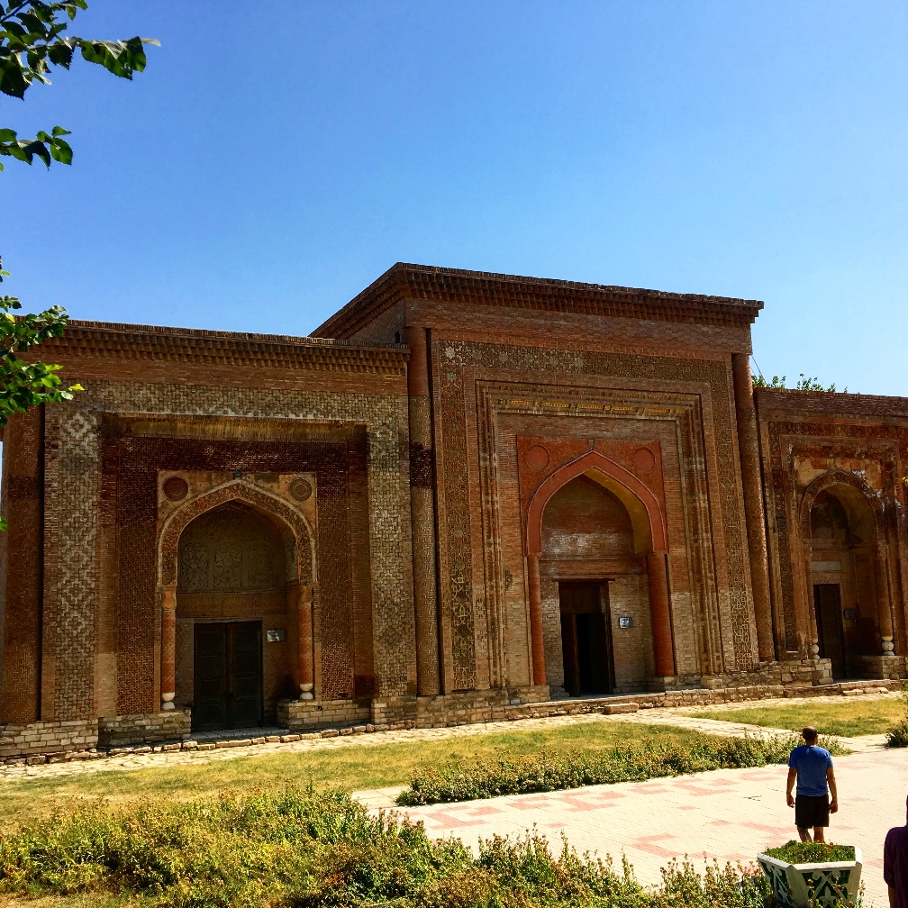 11th-12th century mausoleum in Özgön city. Southern Kyrgyzstan