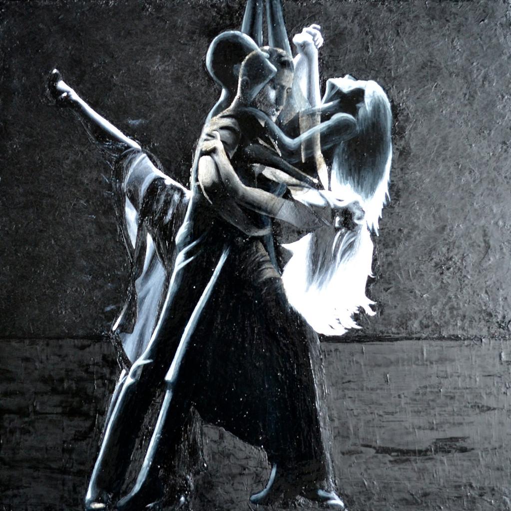 Tango, 50x50cm, technique mixte, 2013