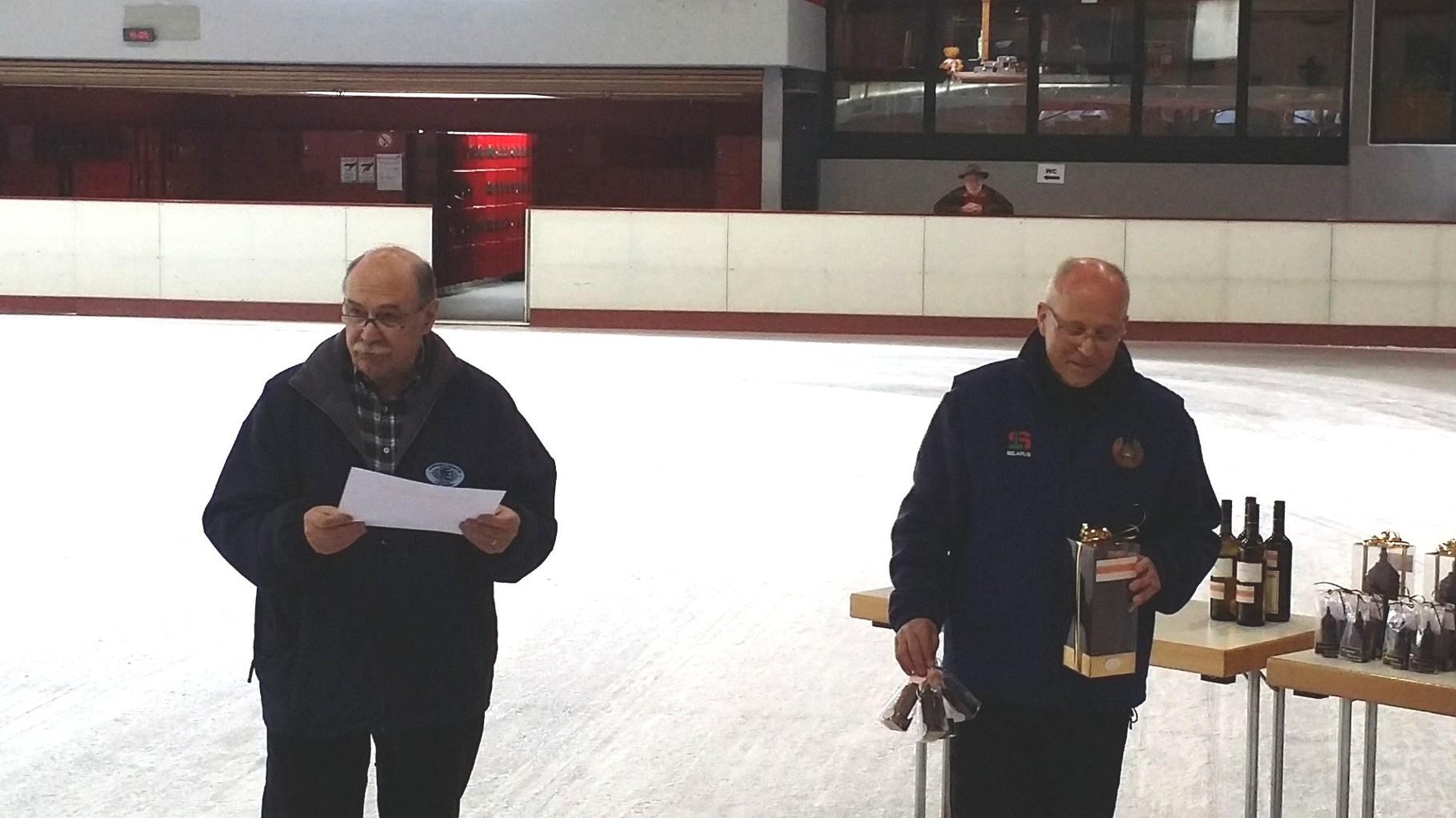 Manfred und Udo bei der Siegerehrung