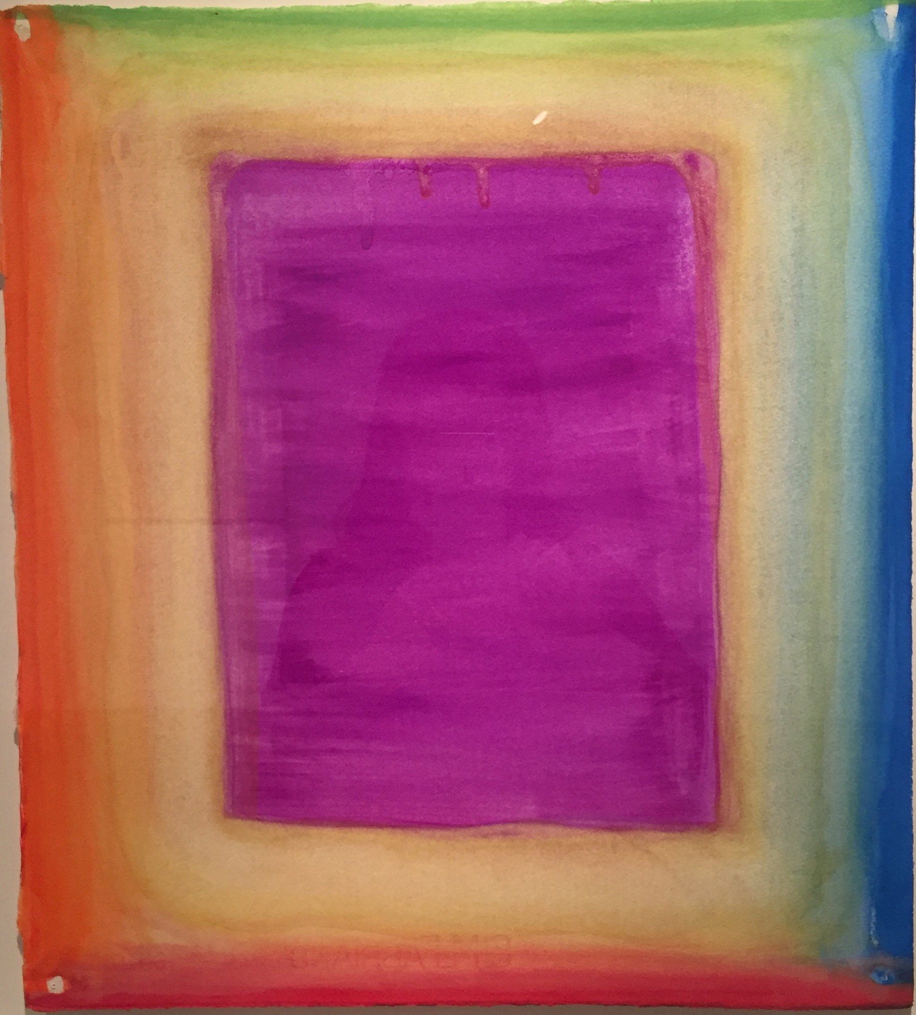 Daily Drawing: Bright and Deep is the Violet, Watercolor on paper, 38×28cm, 2020