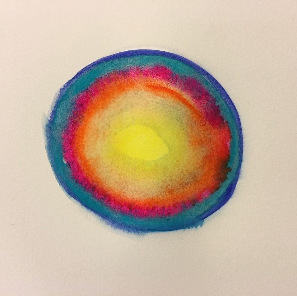 Dairy Drawing: Eye of the Storm, Watercolor on paper, 23×31cm, 2020