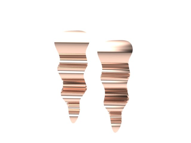 Emma Hedley Jewellery Ripple Earrings 18ct Fairtrade Rose Gold