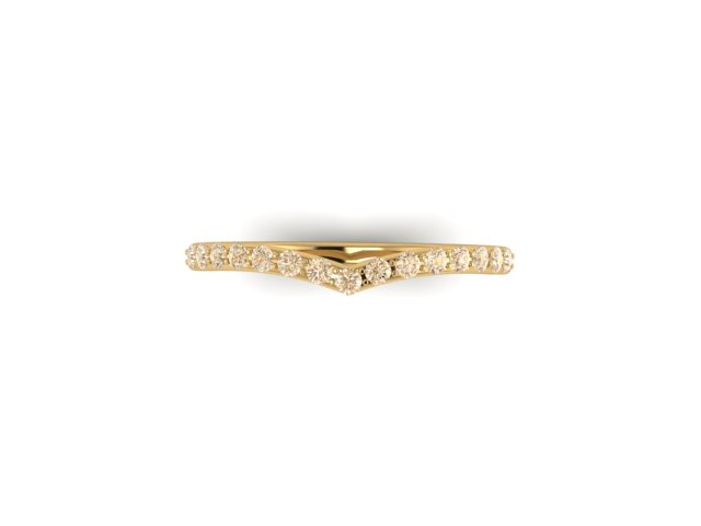 Emma Hedley Jewellery Sunrise Champagne Diamond wishbone ring