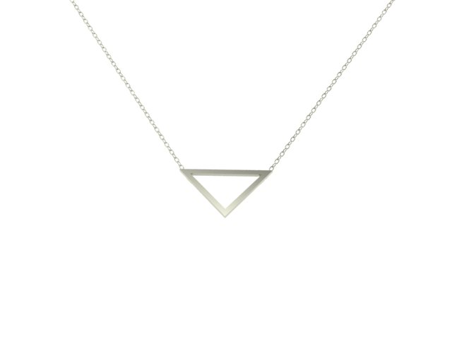 Emma Hedley Jewellery handmade 18ct Fairtrade white gold Triangle Pendant