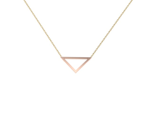 Emma Hedley Jewellery Fairtrade 18ct Rose Gold Triangle Pendant