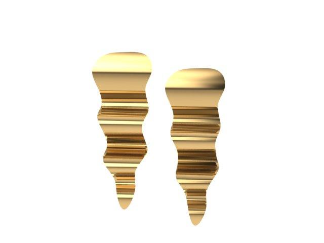 Emma Hedley Jewellery Ripple Earrings 18ct Fairtrade Yellow Gold