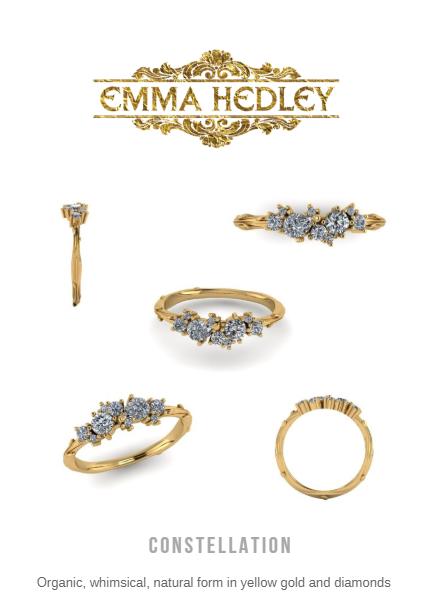 Emma Hedley Jewellery Organic Constellation diamond engagement ring design