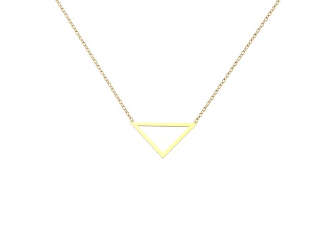 Emma Hedley Jewellery handmade 18ct Fairtrade Triangle Pendant