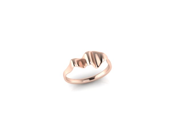 Emma Hedley Jewellery Ripple ring 18ct Fairtrade Rose Gold