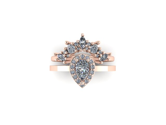 Baroque Radiance Set In 18ct Fairtrade Rose Gold