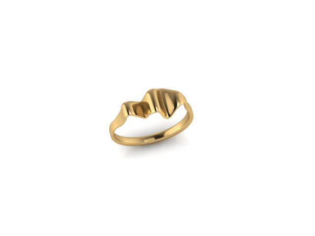 Emma Hedley Jewellery Ripple Rings 18ct Fairtrade Yellow Gold