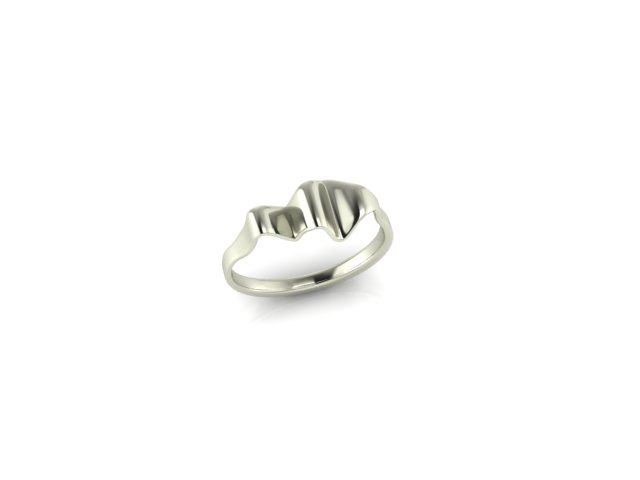 Emma Hedley Jewellery Ripple Ring 18ct Fairtrade White Gold